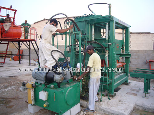 SINOSUN QT10-15 block machine in Philippine